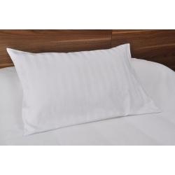 Taie d'oreiller Némésis polycoton 50/50 blanc 135 g portefeuille avec rabat 65x65 cm (le lot de 10)