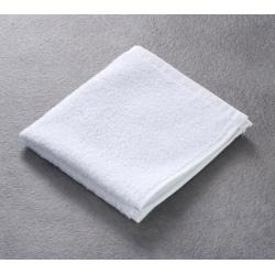 Carré Invité 100% coton blanc 400 g 30x30 cm (le lot de 50)