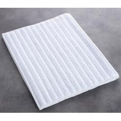Tapis de bain Olympe 100% coton blanc 850 g 50x75 cm (le lot de 10)