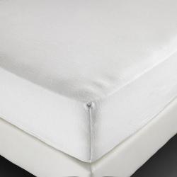 Alèse molleton Sanfor 100% coton blanc 210 g forme drap housse 180x200x25 cm