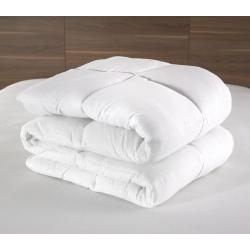 Couette Lotus 100% polyester blanc et fibres 400 g 140x200 cm (le lot de 11)