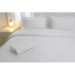 Housse de couette satin 125g blanc 175x240 cm