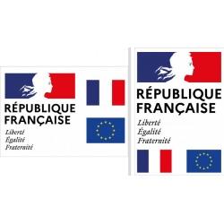 """Plaque de façade """"Liberté Egalité Fraternité"""" A1 (59,4 x 84,1 cm) Modèle Classique"""