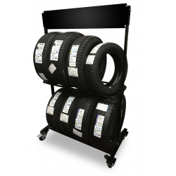 Présentoir à pneus L100 x P40 x H150 cm