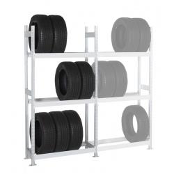 Rayonnage stockage de pneus Elt départ 3 niveaux L100 x P40 x H200 cm