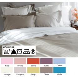 Lot de 3 draps housses 140x200 cm bonnet 30 percale 100% coton couleur