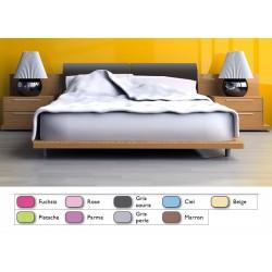 Lot de 10 draps plats couleur 270x310 cm polycoton OS 4/4
