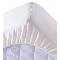 Lot de 6 protège matelas draps housses 80x190 cm 100% coton 200g