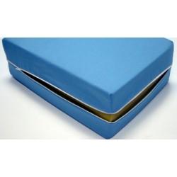 Housse de matelas ép 12 cm polyester M1 bleu 140x190 cm