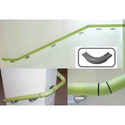Embout d'angle à 90° de main courante bactéricide norme ERP