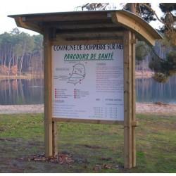 Panneau d'information avec toit Mayenne 139x124 cm