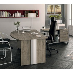 Bureau de direction optimum courbe L180xP100 xH72 cm
