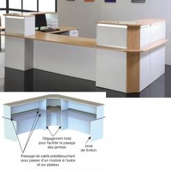 Pièce d assemblage de bureaux d acceuil confort