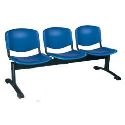 Siège poutre Emmanuelle 2 places assise et dossier polypropylene