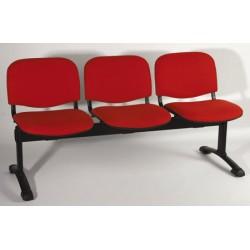 Siège poutre Emmanuelle 4 places assise et dossier tissu non feu