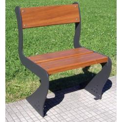 Fauteuil Benaize acier et bois exotique L60 cm