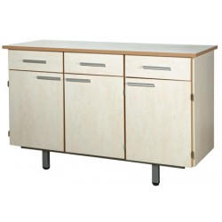 Bahut Elisa 3 portes 3 tiroirs sans vaissellier sans serrure