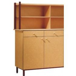 Buffet 2 portes 2 tiroirs L100xH102 xP55 cm