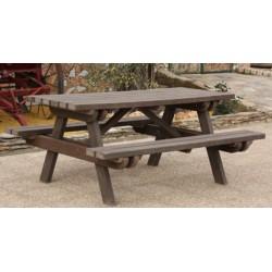 Table de pique nique 100% recyclé L180 cm
