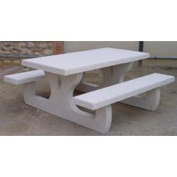 Table de pique nique monobloc 180x180 cm
