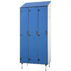 Vestiaire stratifié industrie salissante 3 cases L120xP50,5xH192 cm
