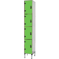 Vestiaire stratifié multicasiers 4 cases L40xP50,5xH192 cm