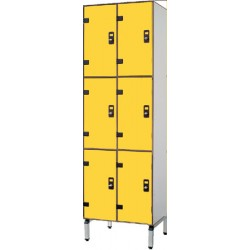 Vestiaire stratifié multicasiers 6 cases L63xP50,5xH192 cm