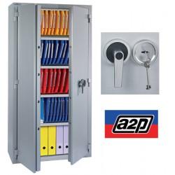 Armoire ignifugée papier 30 min 660 L serrure à clé A2P