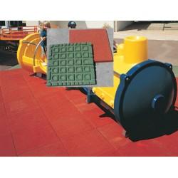 Dalles de sécurité 50x50 cm ép 75 mm HIC 2,09 m (prix au m2)