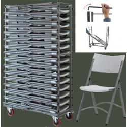 Chariot pour 30 chaises pliante polyéthylène Q+