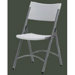 Lot de 4 chaises pliantes polyéthylène Q+