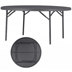 Table pliante polyéthylène Q+ ø 160 cm