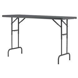 Table polyéthylène pliante et réglable en hauteur L182,9 cm