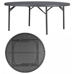 Table pliante polyéthylène Q+ ø 180,3 cm