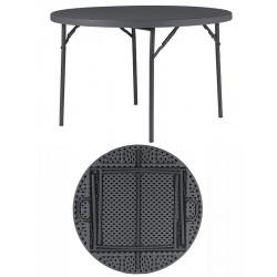 Table pliante polyéthylène Q+ ø 122 cm