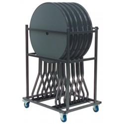 Chariot en kit pour 6 mange debout Busseol ou table pliante Hédé