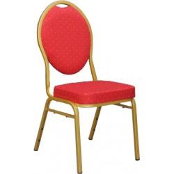 Chaise empilable Confort non feu rouge et dorée
