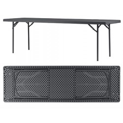 Table pliante assemblable polyéthylène Q+ 183x76,2 cm