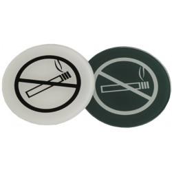 Lot de 10 plaques interdiction de fumer en altuglass teinté diam 70 mm