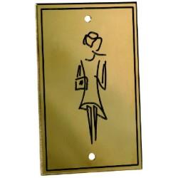 Plaque de porte silhouette en laiton massif 80x50 mm