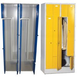 Armoire vestiaire monobloc gain de place 2 colonnes 4 cases