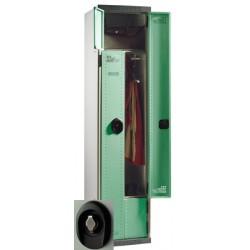 Vestiaire compact à monter porte en L moraillon L40xP50xH180 cm