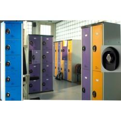 Vestiaires multicasiers à monter 5 portes avec moraillon H180xP50xL40 cm