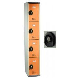 Vestiaires multicasiers à monter 4 portes avec moraillon H180xP50xL40 cm