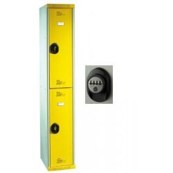 Vestiaires multicasiers à monter 2 portes avec serrure à code H180xP50xL40 cm