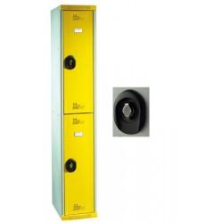 Vestiaires multicasiers à monter 2 portes avec moraillon H180xP50xL30 cm