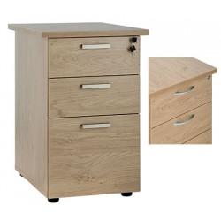 Caisson hauteur Bureau Office 3 tiroirs dont 1 ds P80 cm