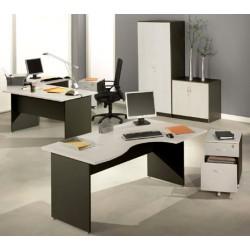 Bureau Stratus finition gris clair et anthracite L80xp80 cm