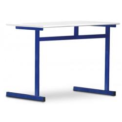 Tables scolaires Margot mélaminé PVC 130x50 cm T4 à T7