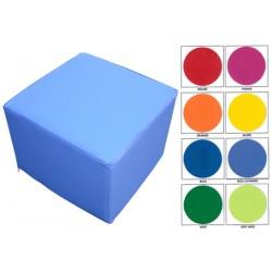 Pouf carré 40x40 assise H30 cm